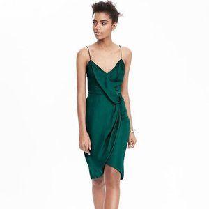 Banana Republic Faux Wrap Green Cocktail Dress